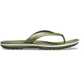 Crocs Crocband Flip Sandals Unisex Army Green/White